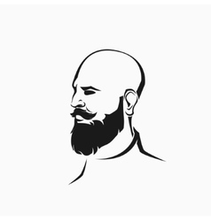 Hipster figure with beard vector