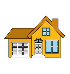 House facade exterior vector
