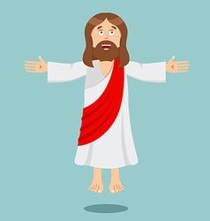Jesus christ cheerful son god biblical vector