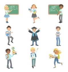 Kids Happy To Be In School vector image