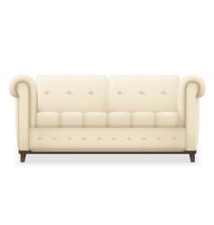 Leather luxury modern vintage living room sofa vector