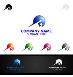 letter g for digital logo marketing financial vector image