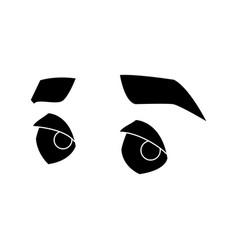 man eyes cartoon vector image