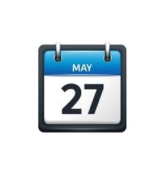 May 27 calendar icon flat vector