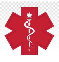 Medical alert emergency ems flat icon for apps vector