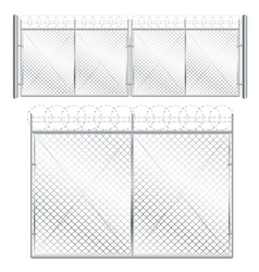 Metal Mesh Gate vector image