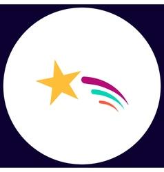 Meteor computer symbol vector