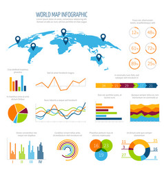 modern infographic template with 3d world vector image