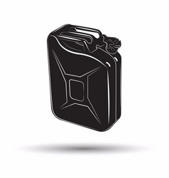 Monochrome petrol canister icon vector