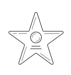 movie star line icon vector image