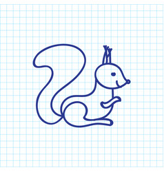 Of zoology symbol on squirrel vector