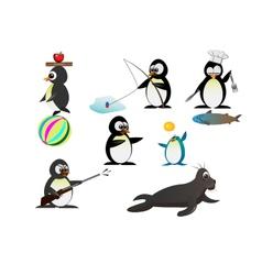 Penguin characters vector