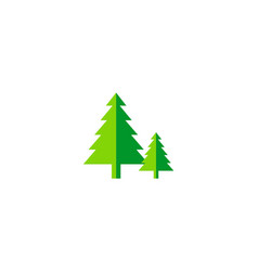 pine tree green nature logo vector image