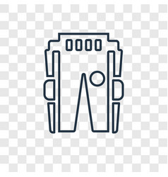 practice pants concept linear icon isolated on vector image