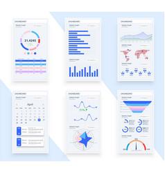 presentation template design business data graphs vector image