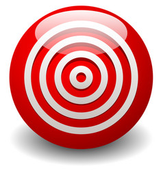 Red target bullseye accuracy precision icon vector