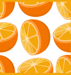 seamless pattern of oranges vector image