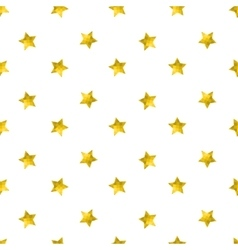 Seamless pattern with gold glitter stars vector image vector image