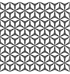 Seamless pattern with linear figures triangles vector