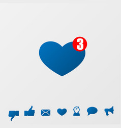 social media icons message vector image