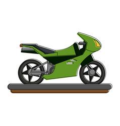 sport motorcycle vehicle vector image