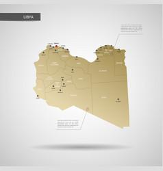 stylized libya map vector image