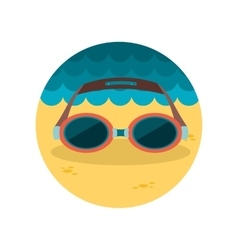 Swimming goggles flat icon vector