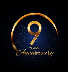 Template logo 9 year anniversary vector