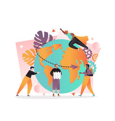 travel world concept for web banner vector image