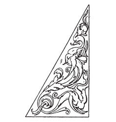 Triangular panel is a antic pattern it is lower vector
