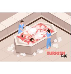Turkish bath isometric vector