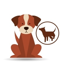Veterinary dog care dog silhouette icon vector