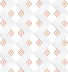 White embossed zigzag with red vector