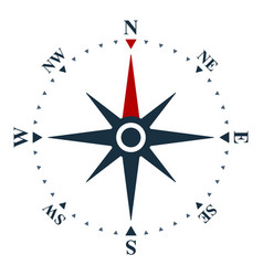 wind rose icon compass and navigation symbol vector image