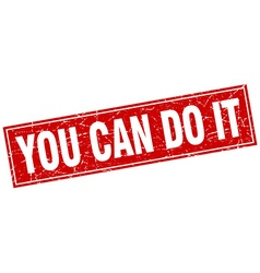 You can do it red square grunge stamp on white vector