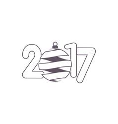 celebration logo with christmas ball on colorful vector image vector image