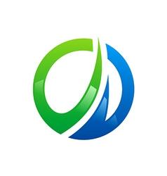 circle business finance arrow logo vector image vector image