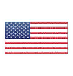 Flag usa 4th of july independence day vector