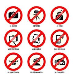 No media signs vector image