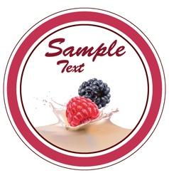 strawberries blackberries milk vector image vector image