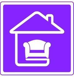 armchair on home interior symbol vector image vector image