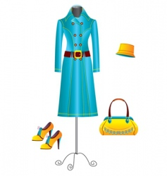 clothes for woman vector image