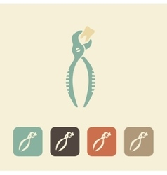 Forceps for removal of teeth icon vector image