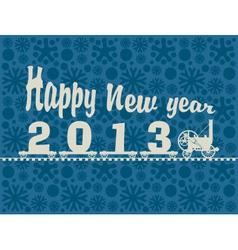 locomotive year vector image
