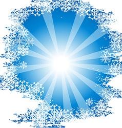 Sunny chrisrmas background vector image vector image