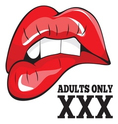 ADULTS ONLY XXX 1 vector image