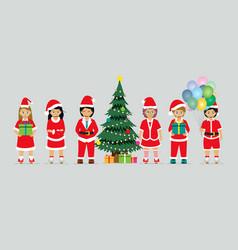 baby in santa claus costume vector image vector image