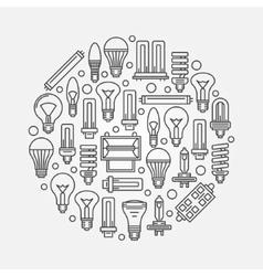 Light bulbs linear vector image