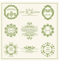 Logo elements flora labels vector image