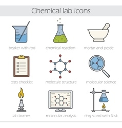 Chemical lab icons vector image